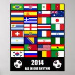 Fútbol 2014 posters