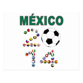 Fútbol 2641 de México Tarjeta Postal