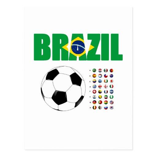 Fútbol 2801 del Brasil Postales