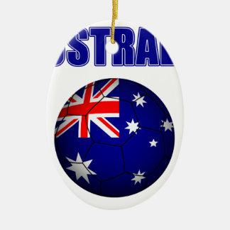 Fútbol 2841 de Australia Adorno Navideño Ovalado De Cerámica