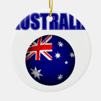 Fútbol 2841 de Australia Adorno Navideño Redondo De Cerámica