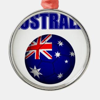 Fútbol 2841 de Australia Adorno Navideño Redondo De Metal