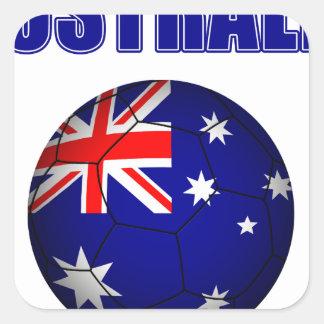 Fútbol 2841 de Australia Pegatina Cuadrada