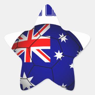 Fútbol 2841 de Australia Pegatina En Forma De Estrella