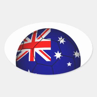 Fútbol 2841 de Australia Pegatina Ovalada