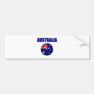 Fútbol 2841 de Australia Pegatina Para Auto