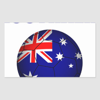 Fútbol 2841 de Australia Pegatina Rectangular