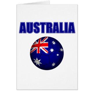 Fútbol 2841 de Australia Tarjeta De Felicitación