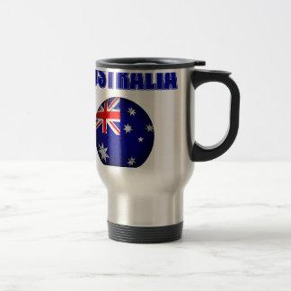Fútbol 2841 de Australia Taza De Viaje