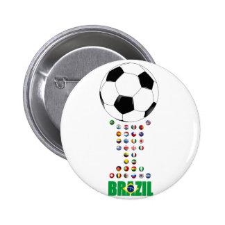 Fútbol 3024 del Brasil Pins