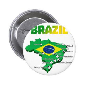 Fútbol 3307 del Brasil Pin