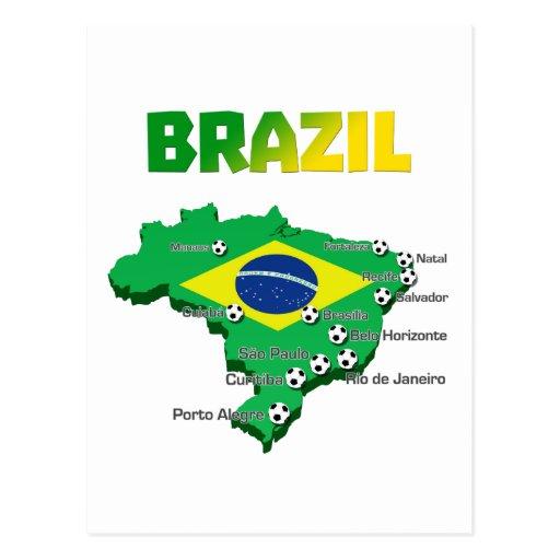 Fútbol 3307 del Brasil Tarjeta Postal