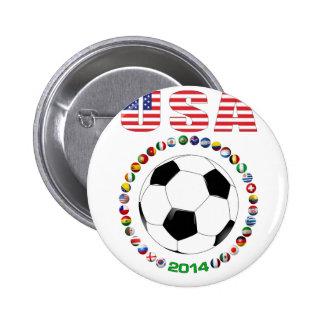Fútbol 4017 de los E.E.U.U. Pin Redondo 5 Cm