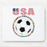 Fútbol 4017 de los E.E.U.U. Tapete De Ratón