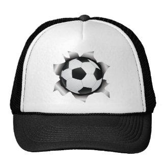 fútbol a través de la hoja de metal gorras de camionero