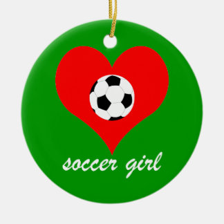 fútbol adorno navideño redondo de cerámica