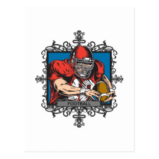 Fútbol agresivo tarjetas postales