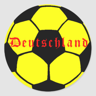 Fútbol alemán etiquetas redondas