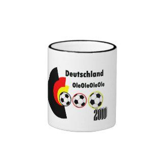fútbol alemán taza a dos colores
