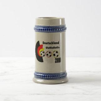 fútbol alemán jarra de cerveza