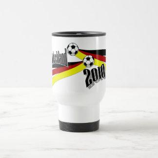 fútbol alemán taza de viaje de acero inoxidable