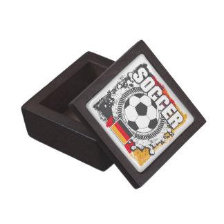 Fútbol Alemania del Grunge Caja De Regalo De Calidad