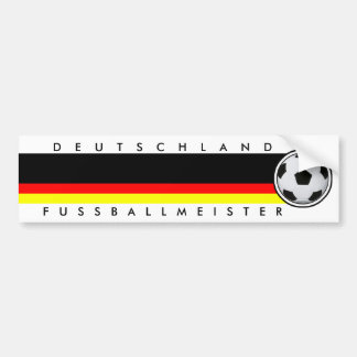 Fútbol Alemania maestro de fútbol bordador Pegatina Para Auto