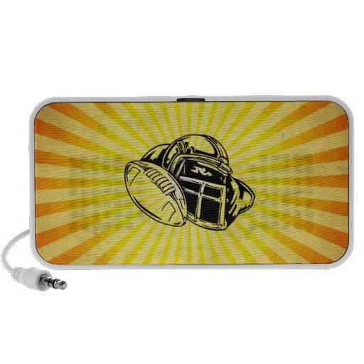 Fútbol amarillo iPod altavoz