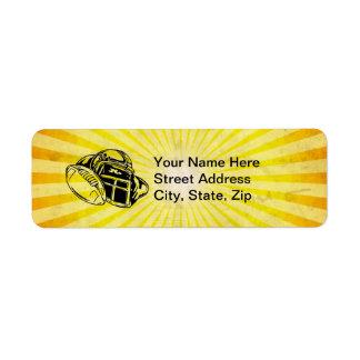 Fútbol amarillo etiquetas de remite