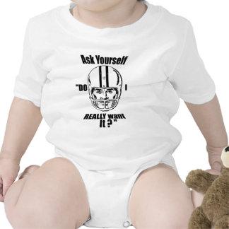 Fútbol americano de motivación Babygrow Traje De Bebé