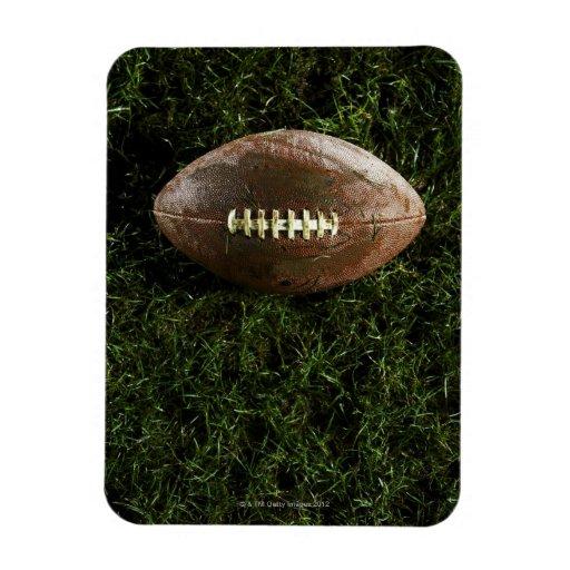 Fútbol americano en hierba, visión desde arriba imán flexible