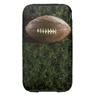 Fútbol americano en hierba, visión desde arriba iPhone 3 tough funda
