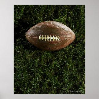 Fútbol americano en hierba visión desde arriba poster