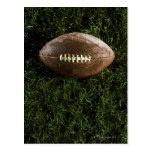 Fútbol americano en hierba, visión desde arriba postal
