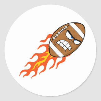 Fútbol americano en los pegatinas del fuego pegatinas redondas