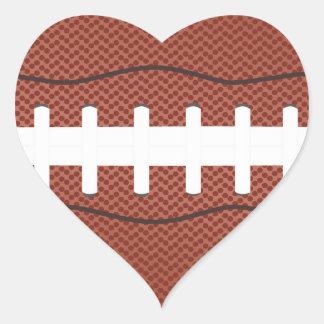 fútbol americano pegatina en forma de corazón