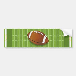 Fútbol americano pegatina para auto