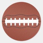 fútbol americano pegatina redonda