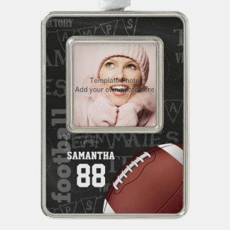 Fútbol americano personalizado de la pizarra adornos con foto