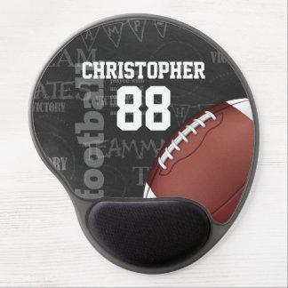 Fútbol americano personalizado de la pizarra alfombrilla gel