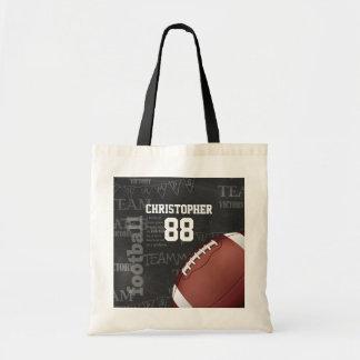 Fútbol americano personalizado de la pizarra bolsa tela barata