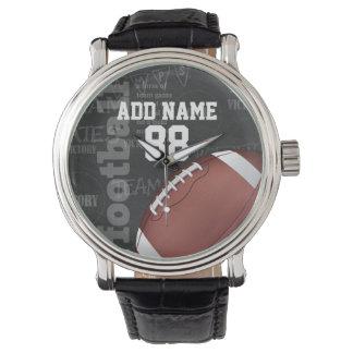 Fútbol americano personalizado de la pizarra reloj
