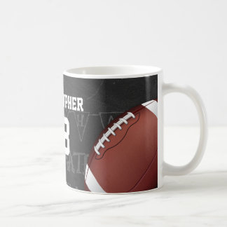 Fútbol americano personalizado de la pizarra taza de café