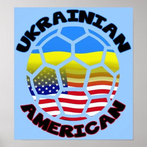 Fútbol americano ucraniano del poster del fútbol