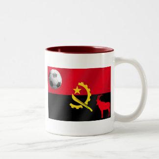 Fútbol angolano 2010 para los fanáticos del fútbol taza de dos tonos