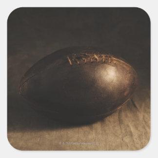 Fútbol antiguo pegatina cuadrada