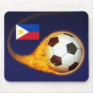 Fútbol ardiente de Filipinas Alfombrilla De Ratones
