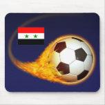 Fútbol ardiente de Siria Alfombrilla De Ratones