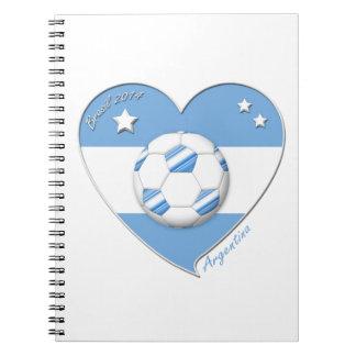"Fútbol argentino. ""ARGENTINA"" soccer team 2014 Libros De Apuntes"