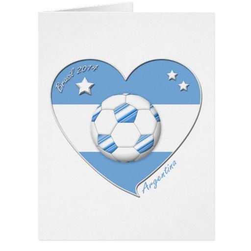 "Fútbol argentino. ""ARGENTINA"" soccer team 2014 Felicitacion"